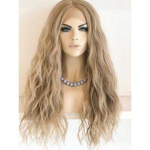 "24"" Ash Blonde Lace Wig Long Wavy | Abigail"